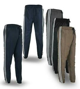 Men's Sports Track Pants Tracksuit Poly Football Training Gym Trousers Joggers