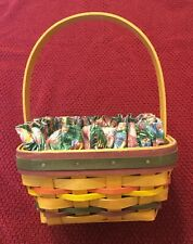 Longaberger Easter Basket 1998 Limited Edition with Liner & Protector