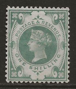 GB 1887 1/- dull green Jubilee VF fresh MINT MH OG SG#211 cat £275