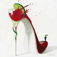 Inna Panasenko: Cosmopolitan Fertig-Bild 50x50 Wandbild High Heels Kult Pop