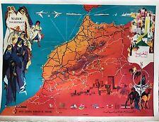 CARTE TOURISTIQUE DU MAROC 1958