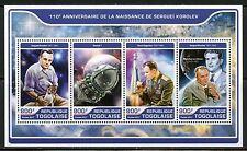 Togo 2017 11Oth Birth Of Serguei Korolev Russian Space Sheet Mint Nh