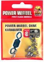 Behr Power-Wirbel ohne Karabiner Microwirbel, 25kg - 36kg, aus Kupfer, 8 Stück