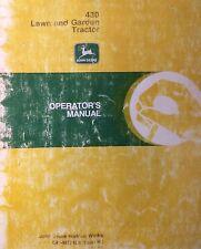 John Deere 430 Diesel Garden Tractor Amp 54 Plow Blade Owner 2 Manual S 126pg