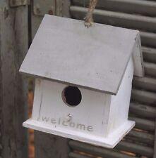 Dekoratives Vogelhaus,Vogelvilla,Vogelhäuschen * WELCOME *  Holz, Shabby Weiß