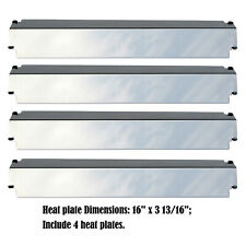 Stainless Steel Heat Plate Replacement Charbroil, Kenmore,Thermos Gas Grill, 4pk