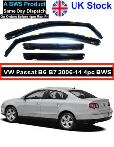VW PASSAT B6/B7 saloon 4door 2006-2014 4pc wind deflectors 4pc BWS UK Stock