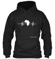 Fashionable African Heart Beat - Black Legacy Gildan Gildan Hoodie Sweatshirt