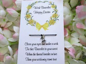 Easter Wish Bracelet Friendship Gift Card Funny Rabbit Humour Card Hoppy Easter
