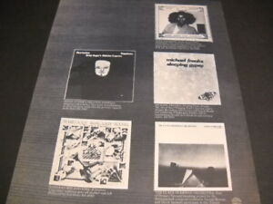 ALICE COLTRANE Brian Auger MICHAEL FRANKS others 1977 PROMO POSTER AD mint cond