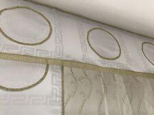 Medusa Mäander Gardinen Vorhäng Übergardinen Schal  Weiß Gold 4set