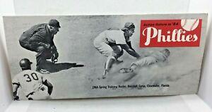 1964 Philadelphia Phillies Baseball Spring Training Roster Schedule AD