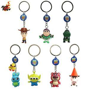 Toy Story 4 Sheriff Woody Keyring Figure Hot Toys Cosbaby Keychain