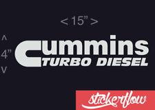 Cummins Turbo Diesel Sticker Banner Truck