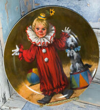 RECO TOMMY THE CLOWN PLATE JOHN MCCLELLAND CHILDRENS CIRCUS WITH COA
