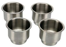 4pcs Stainless Steel Cup Drink Holder Marine Boat Rv Camper free shipping Us Cga