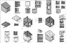 10' x 10' Deluxe Shed DIY Plans Lean To #D1010L, Material List & Instructions