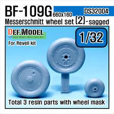 DEF.MODEL, DS32004, Messerschmitt Bf109G Wheel set 2 (for Revell),1:32