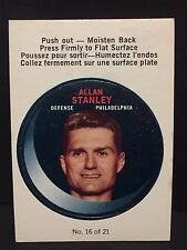 ALLAN STANLEY 1968-69 O-Pee-Chee PUCK Stickers #16 RARE Vintage  Flyers  L1