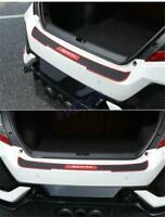 Car Rear Bumper Trunk Anti-scratch Protector Pad Cover Universal Black+Red Sport