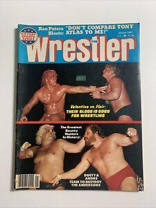 The Wrestler January 1981 Vintage Wrestling Magazine Ric Flair Greg Valentine