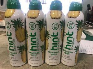 4X  Hint Sunscreen Pineapple SPF 30 6 fl Oz Oxybenzone Free Paraben Free