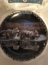 "Bradford ExChange Masters Ways Of The Wolf ""Alternate Route"" Plate Wolf Plate #3"
