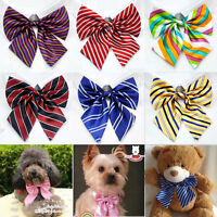 Lot 50 Pcs Adjustable Pet Dog Collar Puppy Silk Bowtie Poodle Necktie Bow Ties