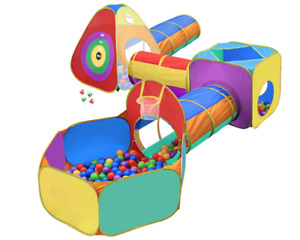 Hide N Side 5pc Kids Ball Pit Tents and Tunnels, Toddler Jungle Gym Play Tent