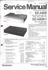 Technics  Service Manual für SE-A 808/K