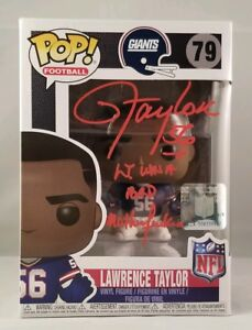 Lawrence Taylor Autographed Signed Funko POP New York Giants JSA