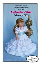 "Crochet doll pattern ""Calendar Girls 1853"" 18 inch doll pattern"