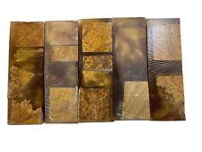 PREMIUM STABILIZED BROWN MALLEE HYBRID BURL KNIFE BLANKS #508 By EWZ 1.5 X 1 X 5