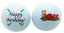 1 Dozen Happy Birthday BOSS Logo Mint Titleist Pro V1 Used Golf Balls