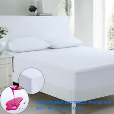 Anti Allergy 100% Waterproof Mattress Protector Cover Twin Full Queen King Size