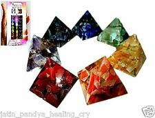 Jet New Chakra 7 Orgone Pyramid Set Free Booklet Jet Crystal Therapy Booklet A+