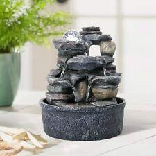 9.8 inch Desktop Polyresin Waterfall Water Fountains Indoor Tabletop Ornament