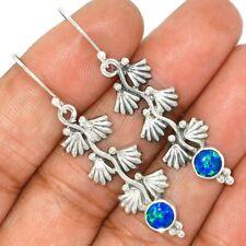 Fire Opal 925 Sterling Silver Earrings Jewelry AE91626 114L