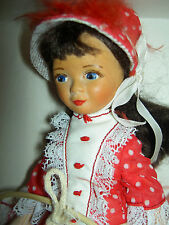 Vintage Old Cottage England, Victorian Doll with Hoop t'gd. mint-in-labeled box