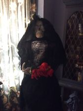 "Animatronic Skeleton Bride 63"" Halloween Prop Life Size Animated Decoration"