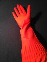 Guantes del hogar 45 cm extra largo guantes de goma rojo - guantes de goma #11r