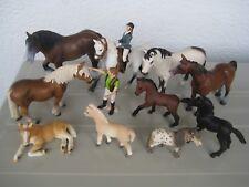 Schleich Pferde Konvolut  mit  Pferden, Fohlen. Pony, Reiterin