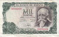 1971   Spain 1000 Pesetas 'José Echegaray' Banknote   Banknotes   KM Coins