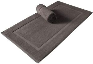 HOTEL BATH MAT 100% COTTON MODERN BATHROOM TOWELING MAT 50X70CM SOFT & ABSORBENT