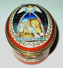 Bilston & Battersea Enamel Box - Christmas Nativity Angel - Jim Shore