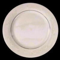 Vintage Crown Ming Jian Shiang Dinner Plate Diana 10.5 inch White & Silver Royal