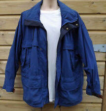Timberland Weathergear Lightweight Blue Nylon Hooded Jacket - S