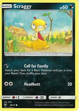 POKEMON SHINING LEGENDS CARD: SCRAGGY - 50/73