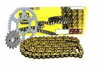 Triple S 525 O-Ring Chain and Sprocket Kit Gold Honda CBF600 S-4-7 ABS 2004-07