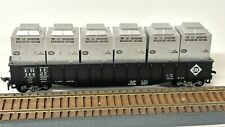 Vintage Athearn Erie 50' Gondola with New York Central Refrigerated Containers